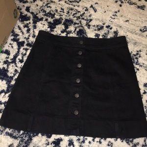 J. Crew Skirts - J. Crew button front black denim mini skirt